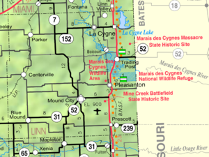 Linn County, Kansas - Image: Map of Linn Co, Ks, USA