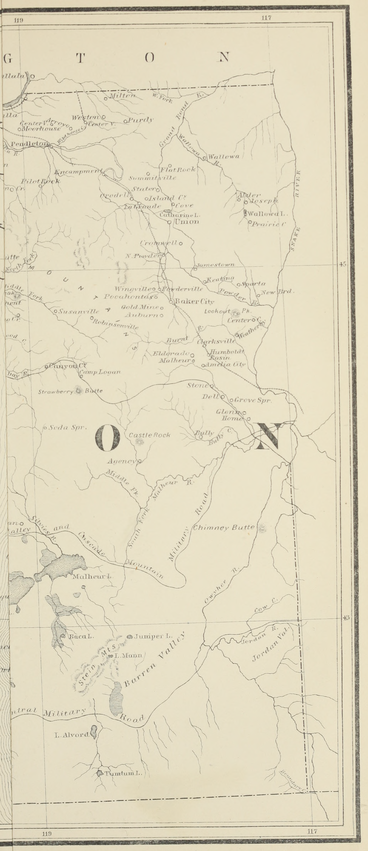 Map of Oregon from Victor and Bancroft's History of Oregon, Vol. 1 (right) 01.png