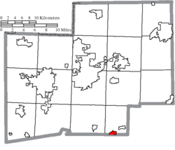 Location of Magnolia in Stark County