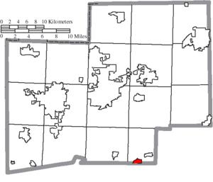 Magnolia, Ohio - Image: Map of Stark County Ohio Highlighting Magnolia Village