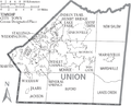 Map of Union County North Carolina With Municipal and Township Labels.PNG