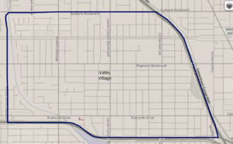 Valley Village, Los Angeles - Valley Village, as mapped by the Los Angeles Times