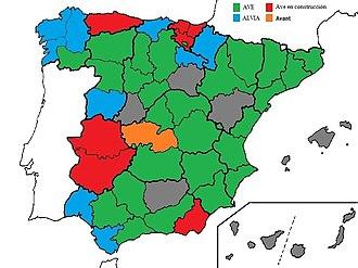 Alta Velocidad Ferroviaria En Espana Wikipedia La Enciclopedia