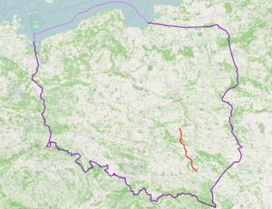National road 9 (Poland) - Image: Mapa DK9