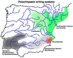 Southwest Paleohispanic script - Southwestern script in the context of paleohispanic scripts