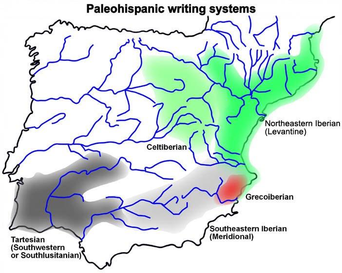 Mapa escriptures paleohispàniques-ang