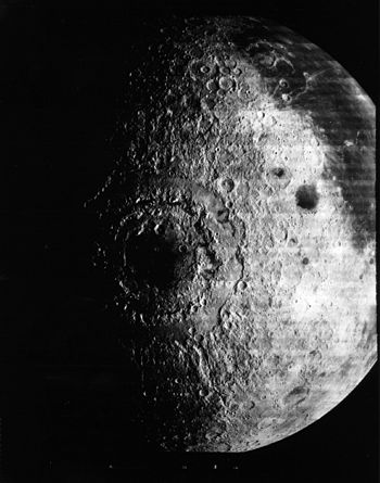 Lunar Orbiter 4 image of the Mare Orientale ba...
