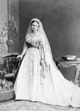 Grand Duchess Maria Alexandrovna of Russia - Grand Duchess Maria Alexandrovna wearing the traditional dress of ladies of the Russian Imperial court.