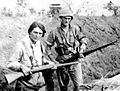 Maria Sguassabia and her Brother Antônio in the trenches.jpg