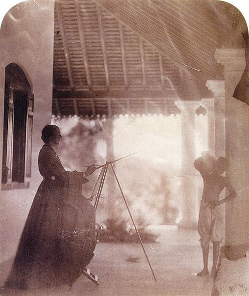 File:Marianne North in Mrs Cameron's house in Ceylon, by Julia Margaret Cameron.jpg