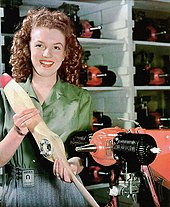 Portrait of Monroe aged 20 taken at the Radioplane Munitions Factory