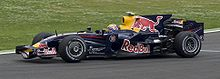 Webber driving a Red Bull car at the 2008 French Grand Prix