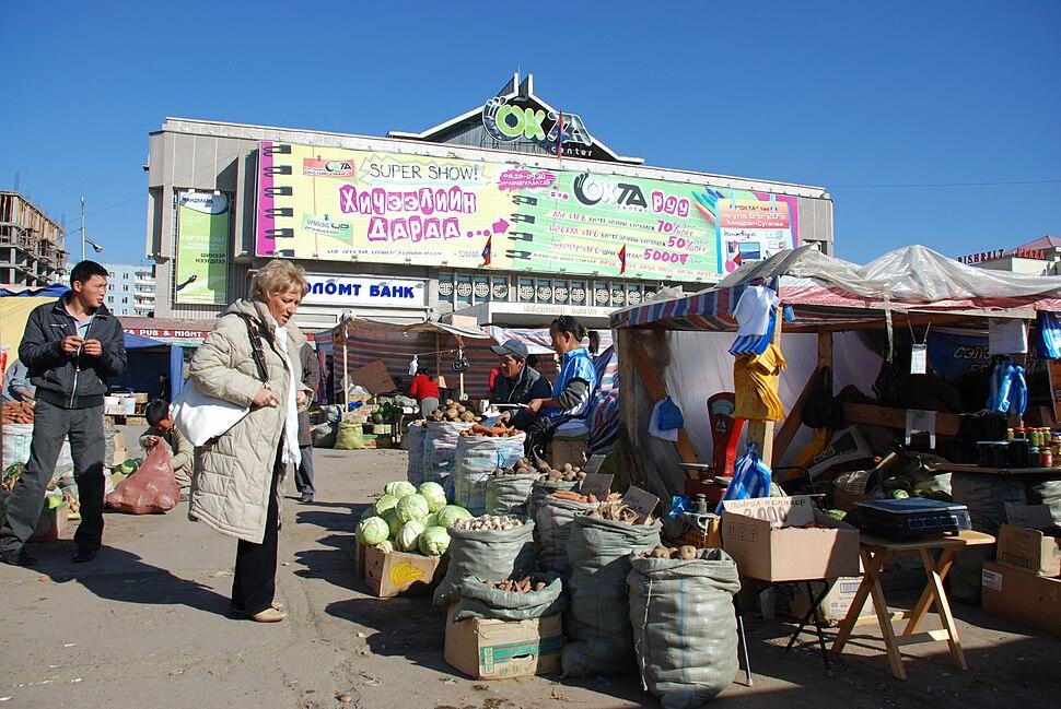 Market in Ulan Bator (Mongolia)