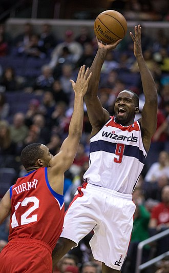 Martell Webster - Webster shooting a jumpshot for the Wizards in 2013