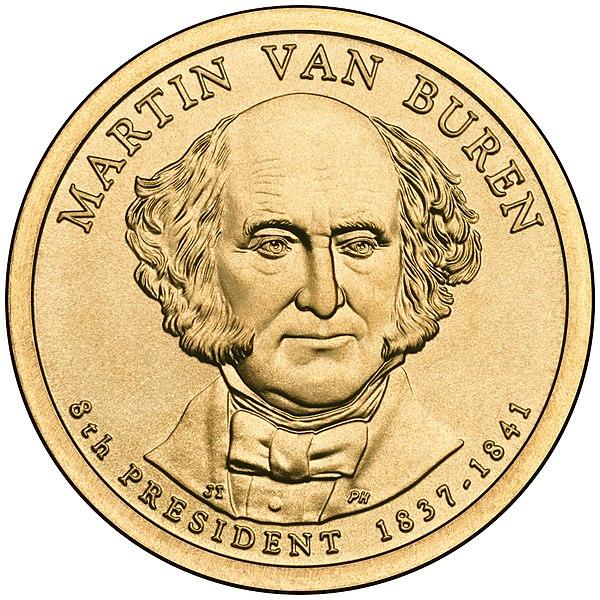 File:Martin Van Buren Presidential $1 Coin obverse.jpg