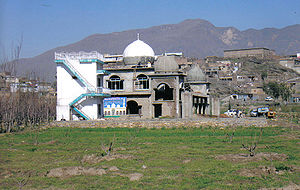 Religion in Peru - The Mosque Bab ul Islam under construction (April 2007)