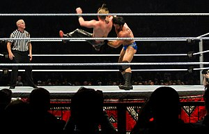 Mason Ryan - Ryan performing a full nelson slam on Curt Hawkins.