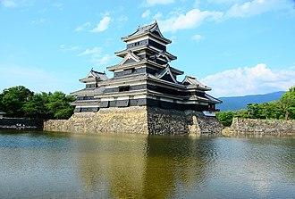 Moat - The moat surrounding Matsumoto Castle