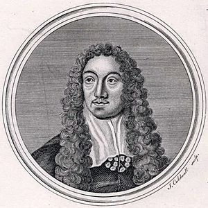 Matthew Locke (composer) - Matthew Locke. Engraving by James Caldwall.