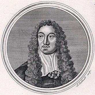 Matthew Locke (composer) - Matthew Locke. Engraving by James Caldwall.