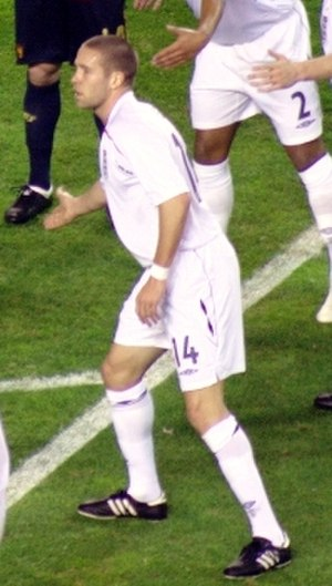 Matthew Upson - Upson playing for England in 2009