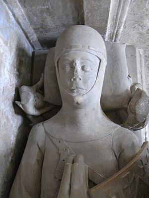 """Maurice de Berkeley, 2nd Baron Berkeley - Effigy of Maurice de Berkeley, 2nd Baron Berkeley (died 1326) """"The Magnanimous"""", St Augustine's Abbey, Bristol (Bristol Cathedral)"""