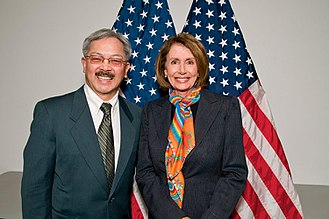 Ed Lee (politician) - Lee with Democratic U.S. house leader Nancy Pelosi