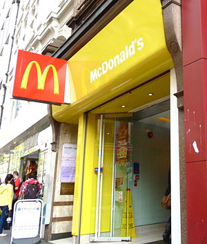 English: UK flagship McDonald's restaurant.