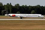 McDonnell Douglas MD-82 (DC-9-82) Star Allilance (Scandinavian Airlines - SAS) OY-KHE (9522921763).jpg