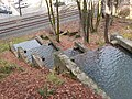 McLoughlin Promenade Singer Creek cascade from above - Oregon City Oregon.jpg