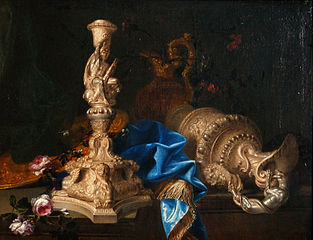 Still life with candlestick of the \