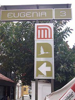 Metro Eugenia Mexico City metro station