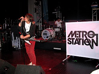 Metro Station (band) - Metro Station performing in Michigan in 2007