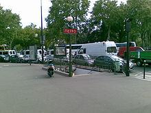 Porte de saint cloud m tro de paris wikip dia for Jardin porte de saint cloud