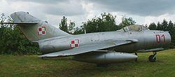 MiG-15 v barvách polského letectva