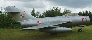 First-generation jet fighter - A MiG-15 in Polish markings