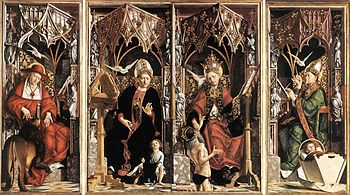 Michael Pacher - Altarpiece of the Church Fath...