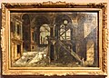 Michele marieschi, cortile di palazzo con scale, 1735 ca.jpg