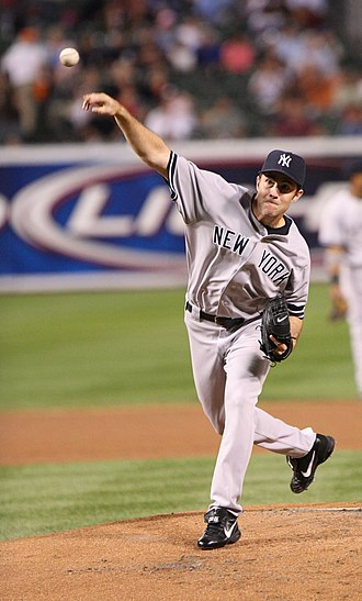 Mike Mussina - Mike Mussina with Yankees on September 28, 2007.