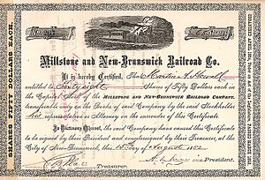 Millstone and New Brunswick Railroad - Image: Millstone & New Brunswick Railroad 1883