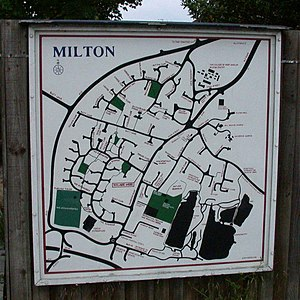 Milton, Cambridgeshire - Image: Milton Village map geograph.org.uk 823107