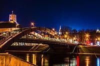 Mindaugas Bridge at Vilnius in night.jpg
