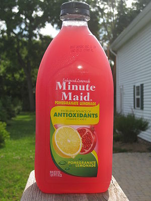 Minute Maid - Minute Maid Enhanced Lemonade: Pomegranate Lemonade.