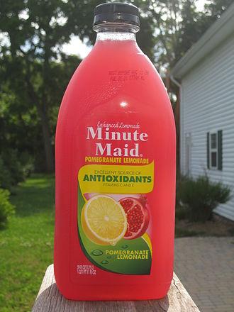 Minute Maid - Minute Maid Enhanced Lemonade: Pomegranate Lemonade.