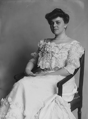 James Wolcott Wadsworth Jr. - Frances Benjamin Johnston, Miss Alice Hay, photograph, taken between 1890 and 1920. Alice, Wadsworth's wife, served as president of the National Association Opposed to Women Suffrage (NAOWS)