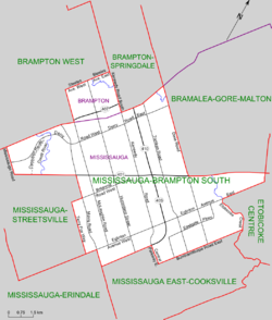 Map of Mississauga-Brampton South