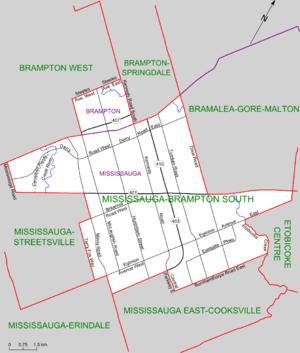 Mississauga—Brampton South - Map of Mississauga-Brampton South
