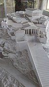 Model of Acropolis of Athens shown in the Stoa of Attalus in Athens, view from above.jpg