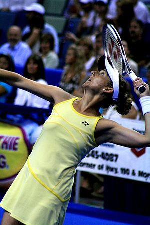 Monica Seles - Seles in the 2007 exhibition against Martina Navratilova in New Orleans, Louisiana
