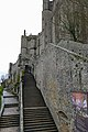 Mont Saint Michel Abbey walls (32768380712).jpg
